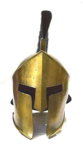 Movie 300 King Leonidas Spartan Greek Warrior Helmet Replica Medieval Helmet With Long Black Plum