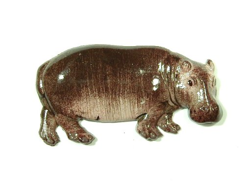 Hand Painted Hippo Refrigerator Magnet