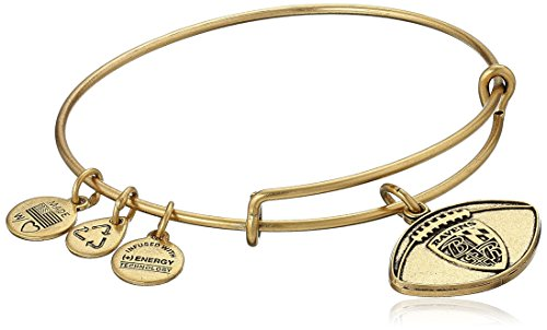 (Alex and Ani Baltimore Ravens Football Expandable Rafaelian Gold Bangle Bracelet)