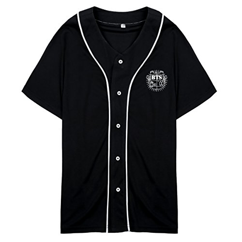 Bangtan Boys BTS Same Style T-shirt J-Hope Rap Monster Jimin jung Kook Tee Shirt L Black&White SUGA