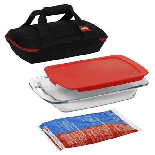 Pyrex 1102266 Baking Dish Set, 4-Piece, Black