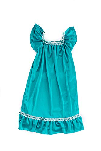 Girls Vintage Nightgown (Turquoise, S (1-2 Years))