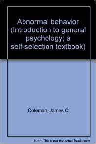 abnormal psychology by coleman pdf
