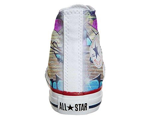 CONVERSE personalizzate All Star Sneaker unisex (Prodotto Artigianale) Girl Street