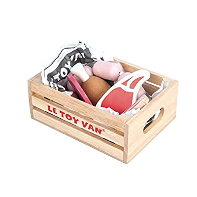 Le Toy Van Honeybake Collection Market Meat Crate Premium Wooden Toys for Kids Ages 3 Years & Up: Toys & Games