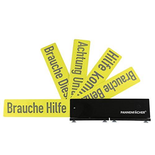 Pannenfächer 04671 Warnhinweis-Schild für Pannensituationen ( mit 5 verschiedenen Pannen/Warnhinweisen )