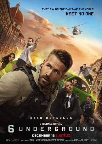 【映画の感想】「6アンダーグラウンド 6 Underground(2019)」- キャラ立ち6人が世界の悪を裁く痛快アクション