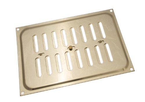 POLISHED BRASS HIT AND MISS LOUVRE VENT VENTILATION COVER 9 X 6 INCH ( PACK OF 1 ) onestopdiy.com