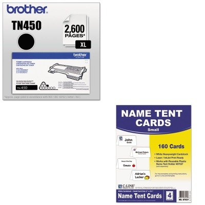 KITBRTTN450CLI87527 - Value Kit - C-line Scored Tent Cards (CLI87527) and Brother TN450 TN-450 High-Yield Toner (BRTTN450) by C-Line (Image #1)