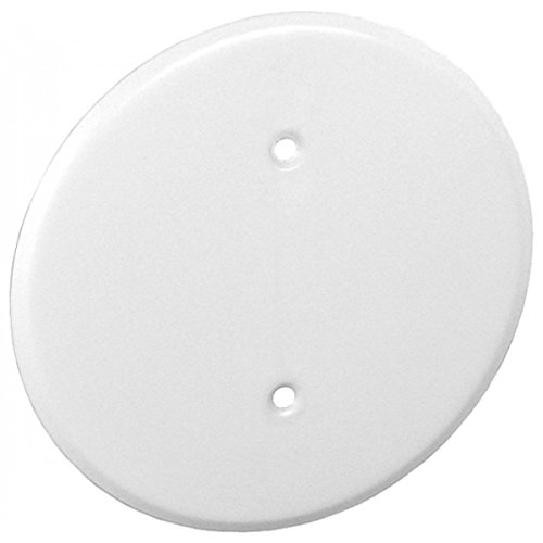 (1 Pc, 8 In. Ceiling Blank-Up Cover, White, for Raised Ring Or 4 In. Round/Octagon Box, 0.0276 In Thick Steel to Cover Electrical Wires)