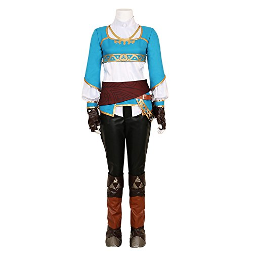 [MiDiCosplay The Legend of Zelda Breath of the Wild Princess Zelda Cosplay Costume] (Cosplay Costume Zelda)