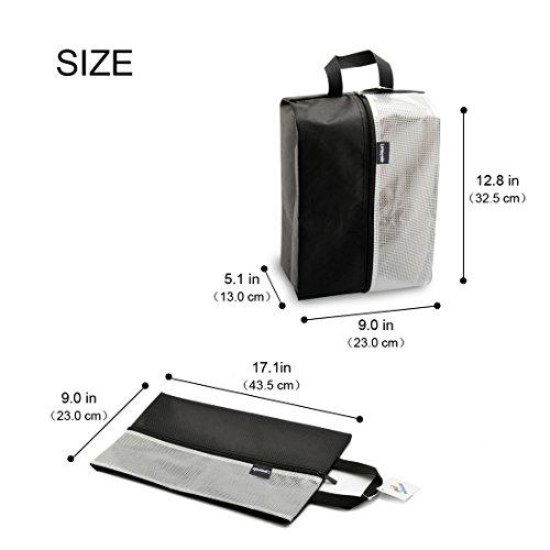 Lermende Travel Shoe Bags Waterproof Nylon Organizer Storage Tote Pouch 5pcs by Lermende (Image #1)