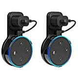 VPROPTION Outlet Wall Mount Hanger Holder Stand for Dot 2nd Generation,Best Space-Saving Dot Accessories for Your Smart Home Speaker without Mess Wires or Screws (Short Charging Cable Included)