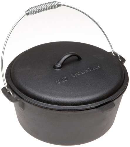 Old Mountain Pre Seasoned 10112 8 Quart Dutch Oven with Dome