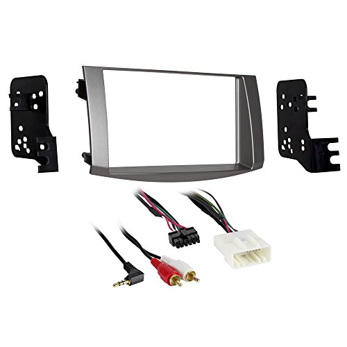 metra-95-8215s-double-din-dash-kit-for-select-2005-2010-toyota-avalon-vehicles-silver