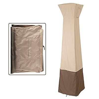 Gekufa Pyramid Torch Patio Heater Cover Heavy DutyWaterproof Propane Cover, 21 x 21 x 90 Inch
