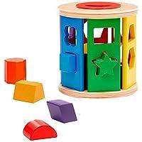 Melissa & Doug Selector rodante de formas concordantes, juguete clásico de madera, juguete de desarrollo, construcción robusta de madera, 14.859 cm alto x 14.859 cm ancho x 14.859 cm largo