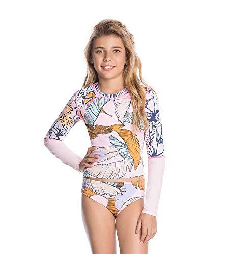 (Maaji Flamingo Parade Girls Rashguard Bikini,)