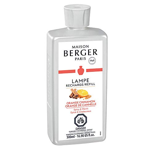 (Orange Cinnamon | Lampe Berger Fragrance Refill for Home Fragrance Oil Diffuser | Purifying and perfuming Your Home | 33.8 Fluid Ounces - 1 Liter | Made in)