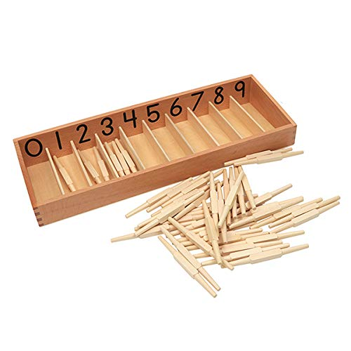 Cheers Education Montessori Math Material: Spindle Box Set (2 Spindle Box,1 Box Holder,45 spindles)