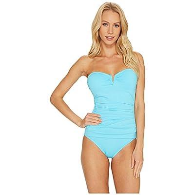 (トミーバハマ)Tommy Bahama レディース水着・ワンピース Pearl V-Front Bandeau One-Piece Swimsuit True Turquoise 4 S [並行輸入品]