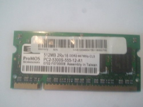 - Acer 512Mb Memory DDR-2 SO-DIMM, A3G3