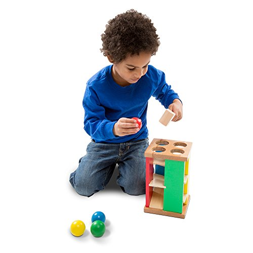41%2BxmawR2xL - Melissa & Doug Deluxe Pound and Roll Wooden Tower Toy With Hammer