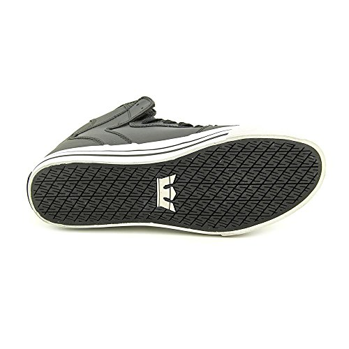 Supra Mens Vaider Black White Skate Shoes