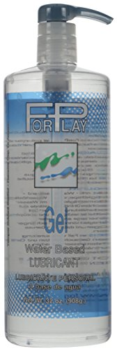 ForPlay Gel Water Base Lubricant Pump Bottle, 32 Fluid Ounce
