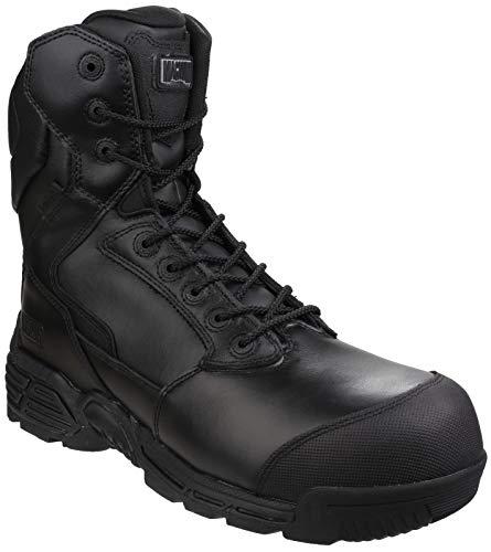 Hi Tec Magnum - Magnum Stealth Force 8.0 Leather CT CP Sidezip WPi Walking Boots - 12 - Black