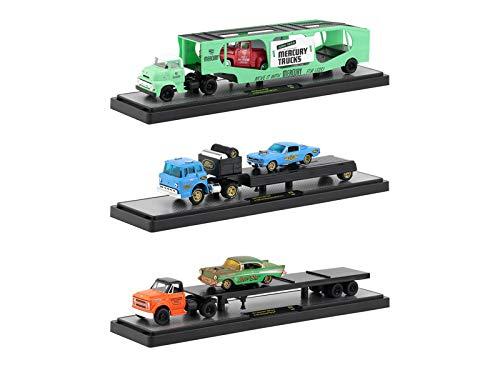M2 Machines Auto Haulers Release 33, 3 Truck Set 1/64 Diecast Models 36000-33