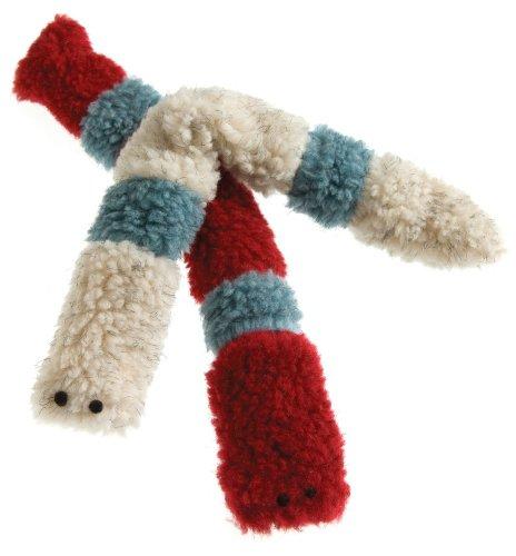 West Paw Design Caterpillar Catnip-Filled Cat Toy with Bell, Cardinal, My Pet Supplies