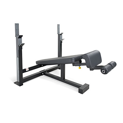 WF Athletic Supply Olympic Decline Bench with Adjustable Ankle Roller - Heavy Duty Frame with 3-inch Square 11 Gauge Steel - Best Decline Bench for Gyms, Schools & Home by WF Athletic Supply