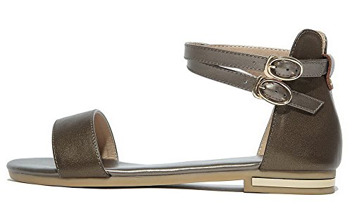 Tsmlg004853 tacco Sandali Buckle Pu Women Oro con Toe With Open Mini Aalardom xwvqz0