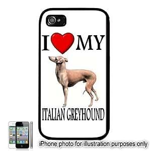 Italian Greyhound I Love My Dog Apple iPhone 4 4S Case Cover Black