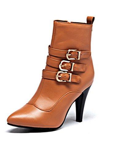 Semicuero Oficina Marrón Tacón A Brown Vestido Uk8 Zapatos Eu41 5 us9 Eu42 Xzz 5 Cn43 negro Botas 5 10 Puntiagudos Y La Casual us10 Mujer Trabajo Cono 8 Cn42 Moda Uk7 De Brown 5 TZxxtq0v