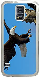 Bald Eagle Animal Samsung Galaxy S5 Case with Transparent Skin