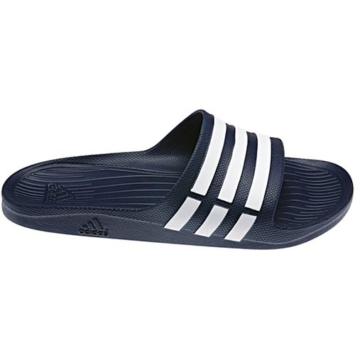 adidas Duramo Slide - Zuecos Unisex adulto Bleu (New Navy/White/New Navy)
