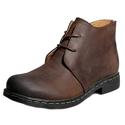 Adulti Uomo per Classici Stivali Doc Stivali Pelle in in Stivali Inverno Classici Autunno Brown Cotone E Boots Marten EwqnIXf