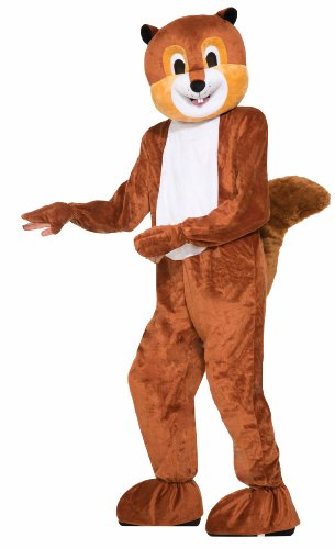 Forum Novelties Men's Scamper The Squirrel Plush Mascot Costume, Brown, One Size