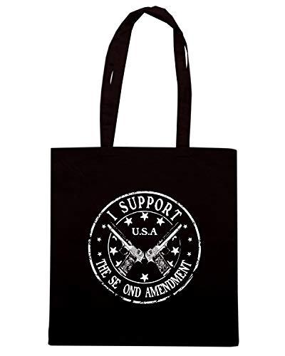 Speed Shirt Borsa Shopper Nera TM0700 I SUPPORT SECOND AMENDROUND