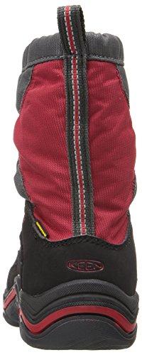 KEEN Winterport II WP Zapatos de invierno para niños Negro-Rojo