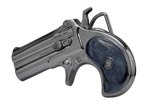 Buckle Rage Adult Unisex Derringer Handgun Pistol Gun Revolver Belt Buckle Black (Belt Gun Buckle)