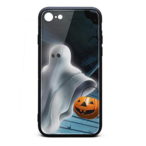 Phone Case for 6/iPhone 6S Cool Art Design of Halloween Ghost with Pumpkin TPU Protective Perfectly Fit Anti-Scratch Fashionable Glossy Anti Slip Thin Shockproof Soft]()