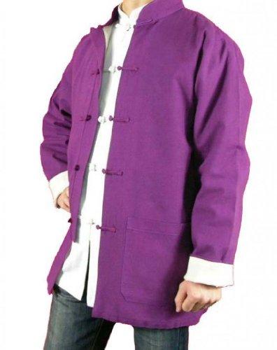 Lin Fin Col Mao Veste Violette Tai Chi Arts Martiaux Blouson Homme Tailleur #116