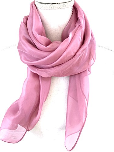- Solid Color Womens Chiffon Scarf, Shawl, Wrap. Beautiful and Simple Silk Feeling Fashion Accessories. (Plum)