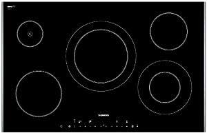 Siemens ET786501E hobs - Placa (Incorporado, Eléctrico, Vidrio y cerámica, Sensor, Parte superior delantera, 1m) Negro