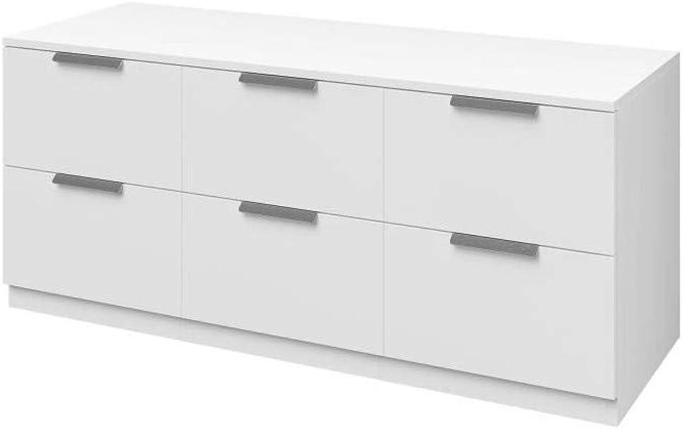 Billund Commode 6 Tiroirs 120cm Blanc Amazon Fr Vêtements