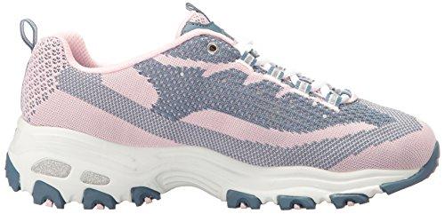 Skechers 11422 BKW - Zapatillas de deporte para mujer Pink/Navy Knit