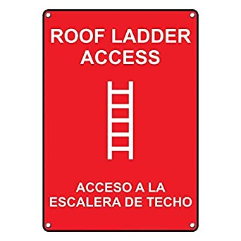 Amazon.com: Vertical de plástico resistente techo escalera ...